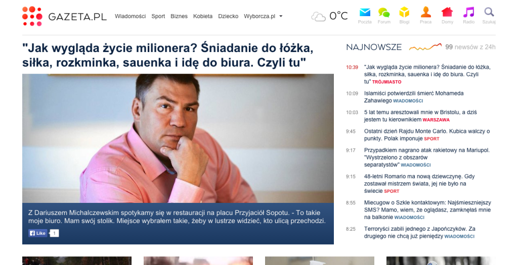 Nowa odsłona gazeta.pl